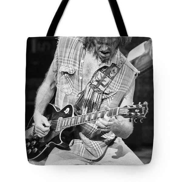 Neil Young Tote Bag by David Plastik