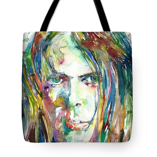 Neil Young Portrait Tote Bag
