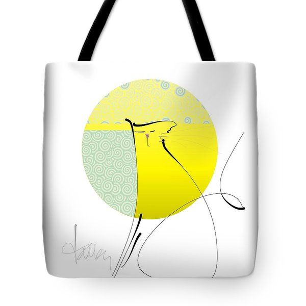 Tote Bag featuring the mixed media Neko - Cat by Larry Talley