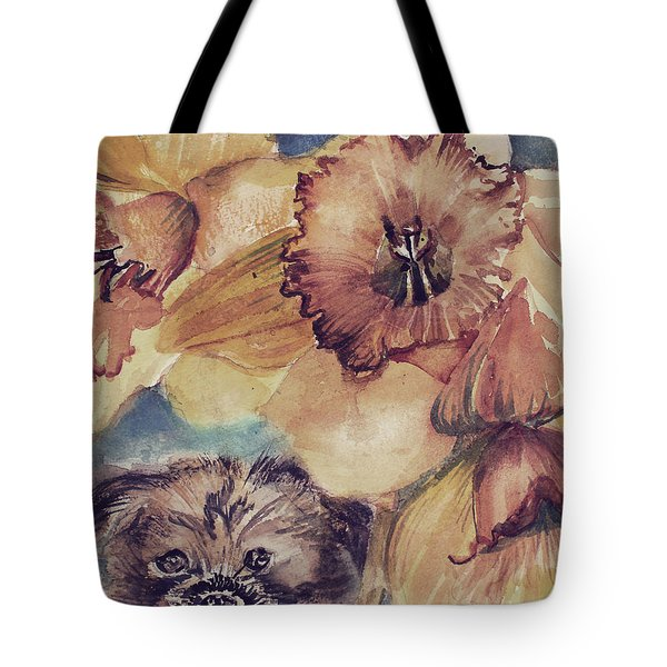 Tote Bag featuring the painting Nellie Mae by Mindy Newman