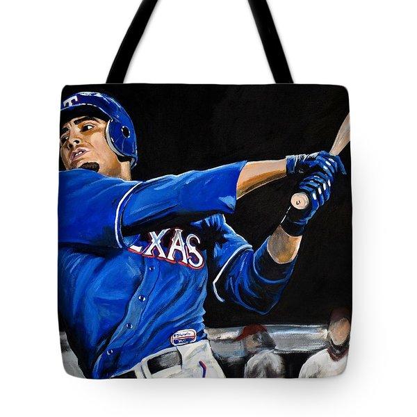Nelson Cruz Tote Bag by Tom Carlton