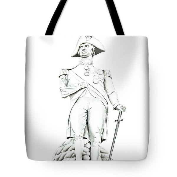 Tote Bag featuring the painting Nelson by Elizabeth Lock