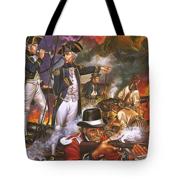 Nelson In The Battle Of Trafalgar Tote Bag