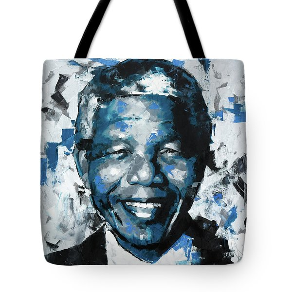 Tote Bag featuring the painting Nelson Mandela II by Richard Day