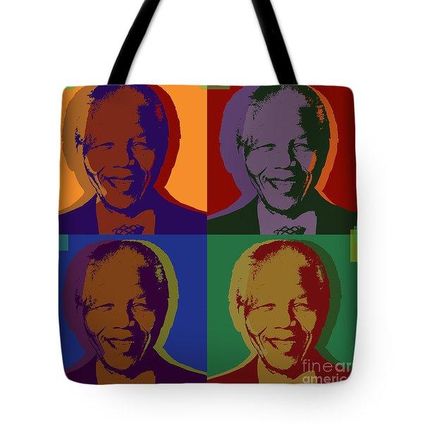 Nelson Mandela Pop Art Tote Bag