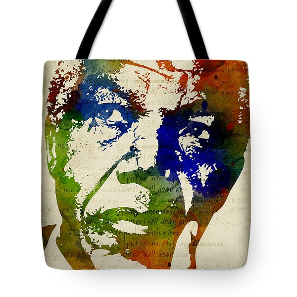 Nelson Mandela Watercolor Tote Bag