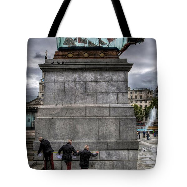 Nelson's Ship In A Bottle Tote Bag