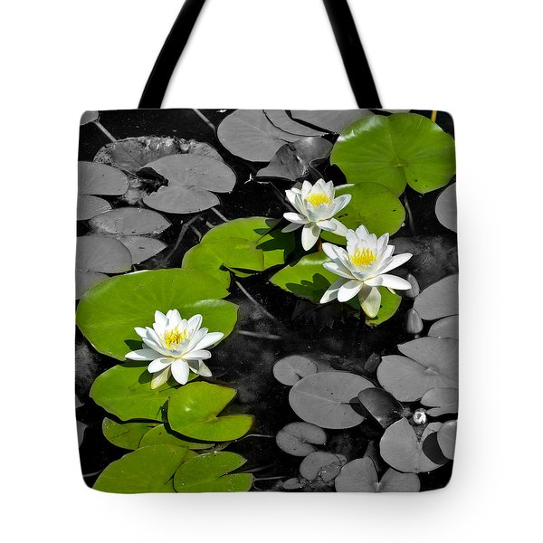 Tote Bag featuring the photograph Nenuphar by Gina Dsgn