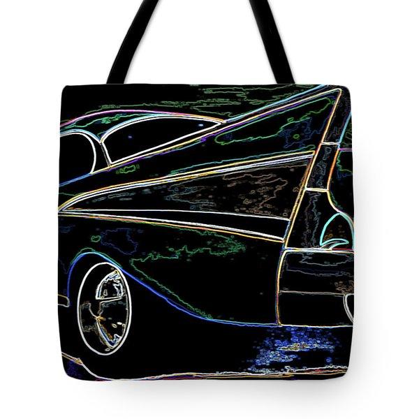 Neon 57 Chevy Bel Air Tote Bag