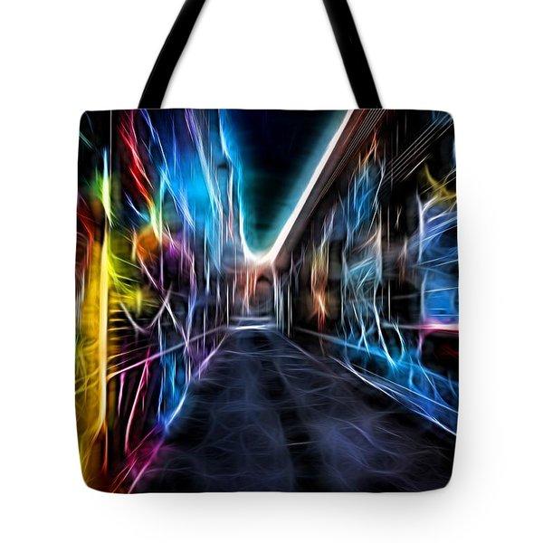Neon Aleey Tote Bag by Michaela Preston