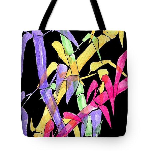 Neon Bamboo Tote Bag