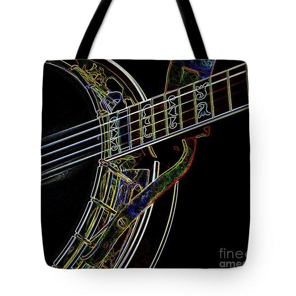 Neon Banjo  Tote Bag by Wilma Birdwell