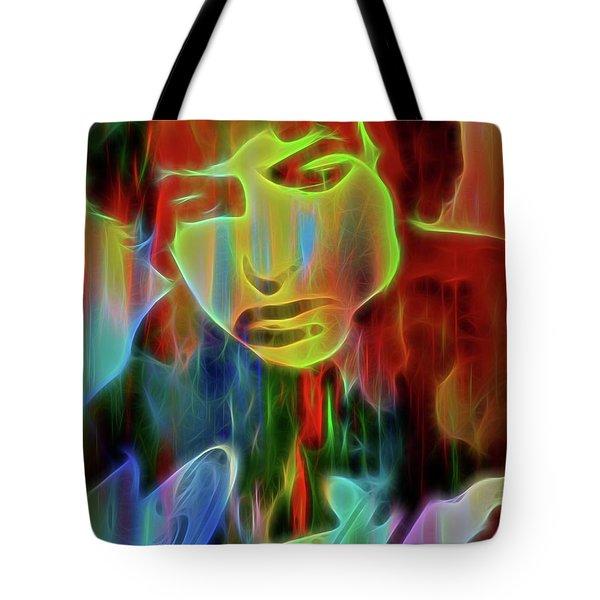 Neon Color Bob Dylan Tote Bag