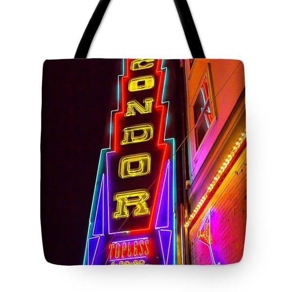 Neon Condor San Francisco Tote Bag