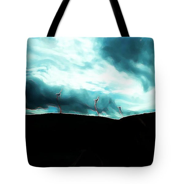 Neon Crucible Tote Bag