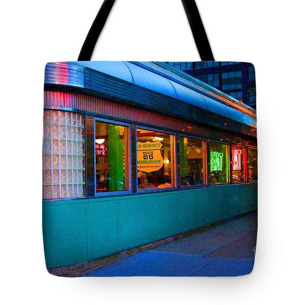 Neon Diner Tote Bag