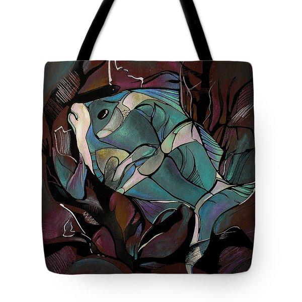Neon Fish Tote Bag by Deyana Deco