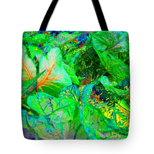 Tote Bag featuring the photograph Neon Garden Fantasy 1 by Marianne Dow