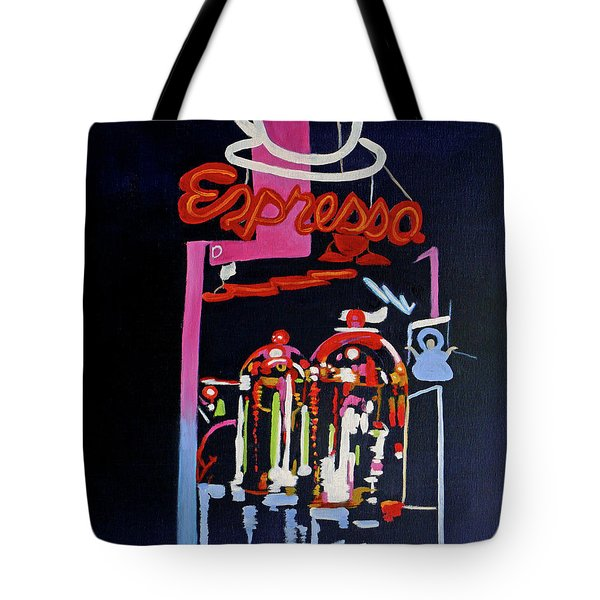 Neon Glow,brass N Copper Expresso Bar Tote Bag