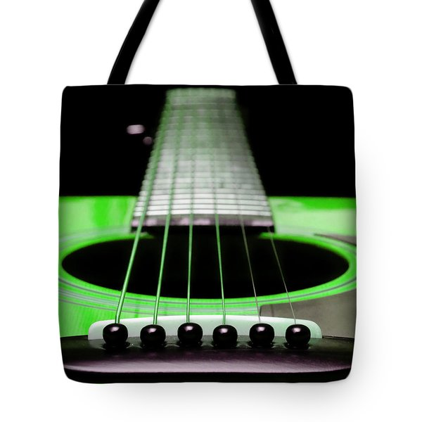 Neon Green Guitar 18 Tote Bag by Andee Design