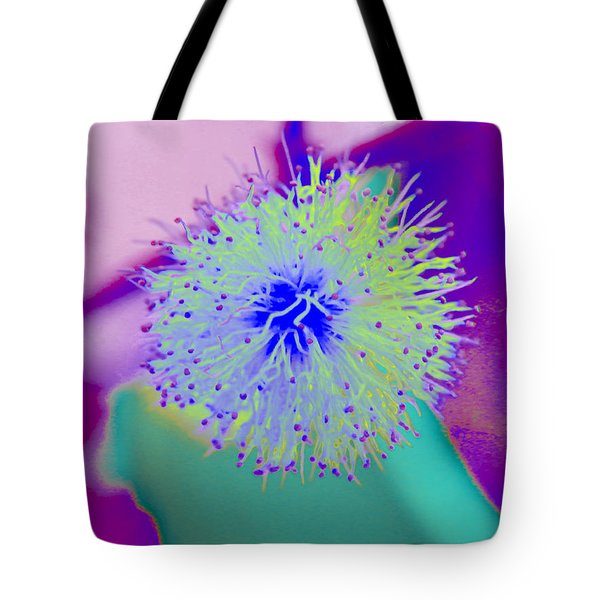 Neon Green Puff Explosion Tote Bag by Samantha Thome