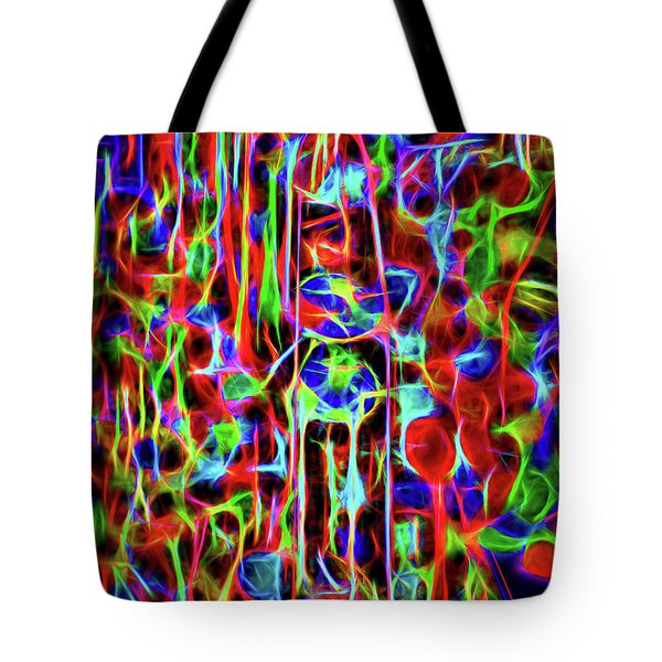 Neon Gum Tote Bag by Spencer McDonald