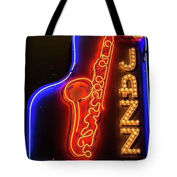 Neon Jazz Tote Bag by Pamela Williams