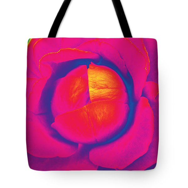 Neon Lettuce Rose Tote Bag