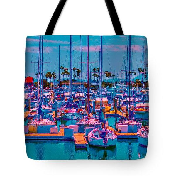 Neon Marina Tote Bag