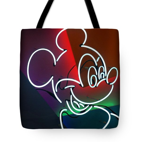 Neon Mickey Tote Bag