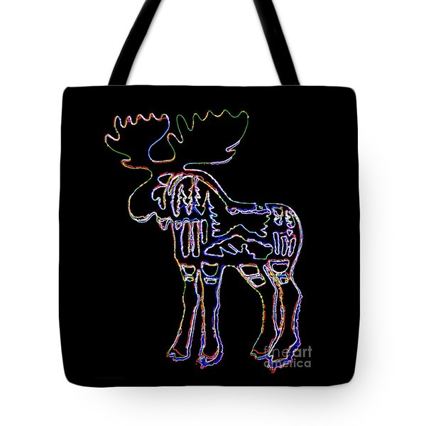 Neon Moose Tote Bag