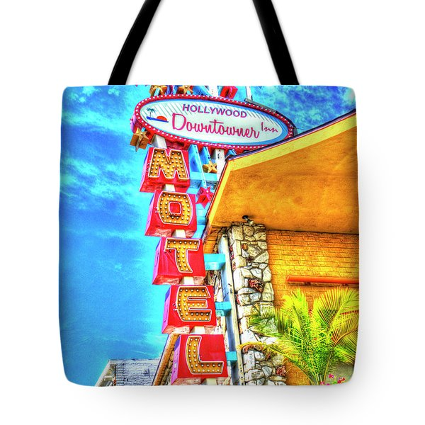 Neon Motel Sign Tote Bag