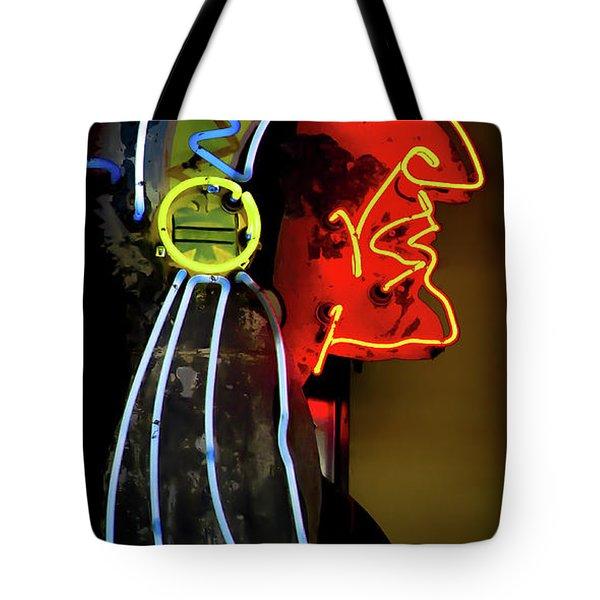 Neon Navajo Tote Bag by David Patterson
