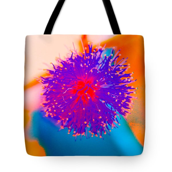 Neon Pink Puff Explosion Tote Bag