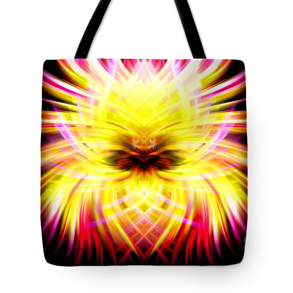 Neon Puffer Fish Tote Bag by Cherie Duran