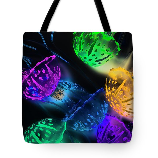 Neon Sea Life Tote Bag