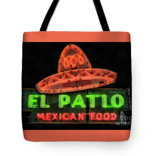 Neon Sign Series Mexican Food Austin Texas Tote Bag