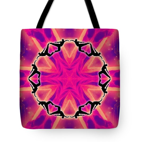 Tote Bag featuring the digital art Neon Slipstream by Derek Gedney