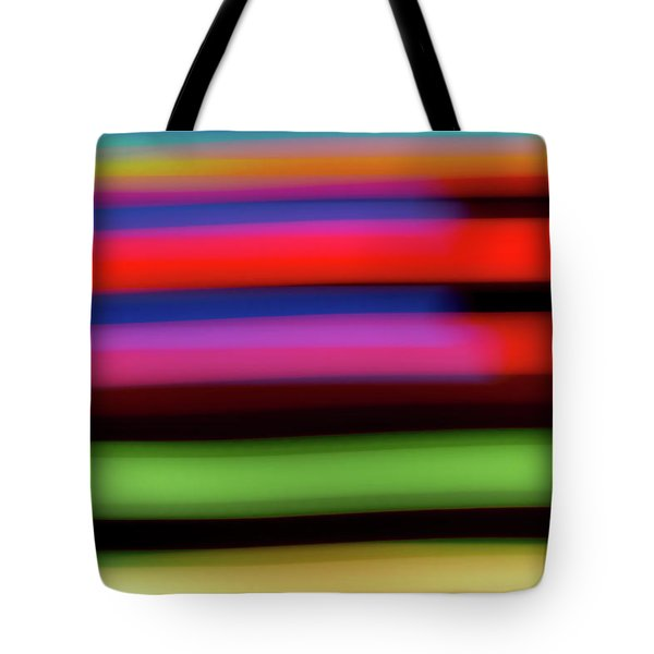 Neon Stripe Tote Bag