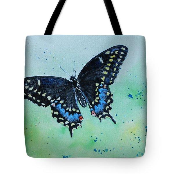 Neon Swallowtail Tote Bag