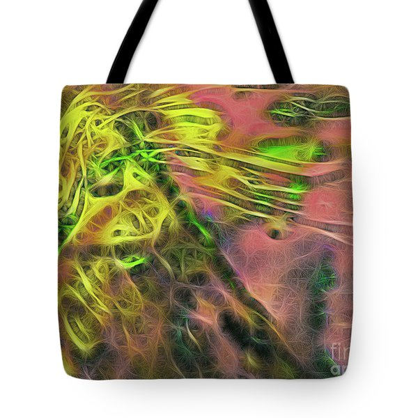Neon Synapses Tote Bag by Todd Breitling