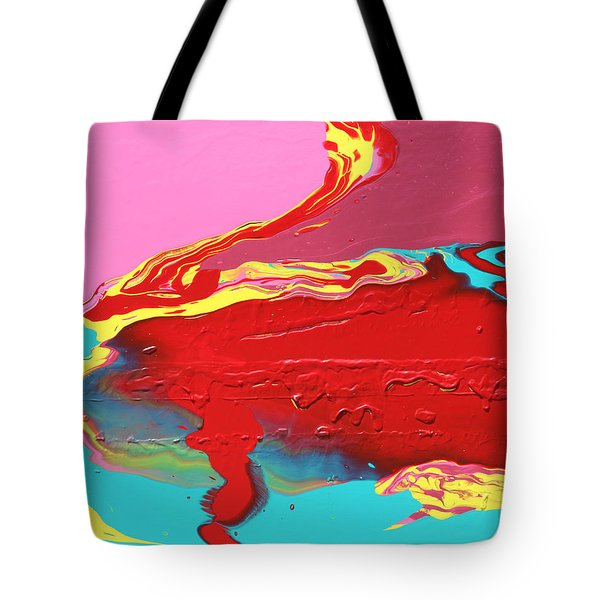 Neon Tide Tote Bag