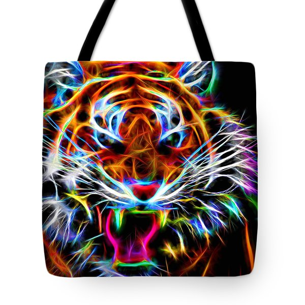 Neon Tiger Tote Bag