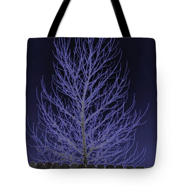 Neon Tree Tote Bag