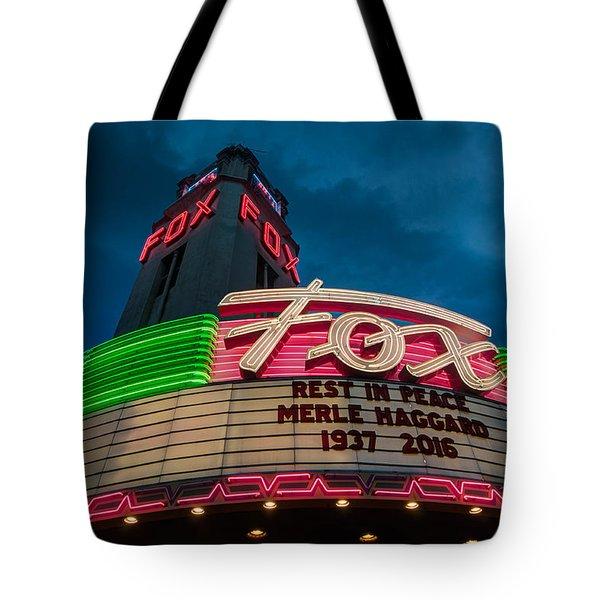 Neon Tribute Rip Merle Haggard Tote Bag
