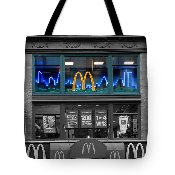 Neon Twin Towers Tote Bag by Andrew Fare