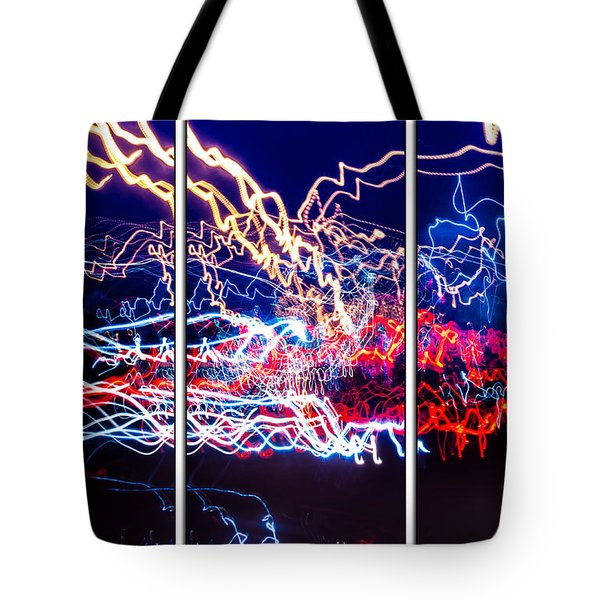 Neon Ufa Triptych Number 1 Tote Bag