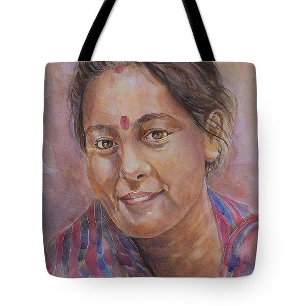 Nepal Girl 6 Tote Bag