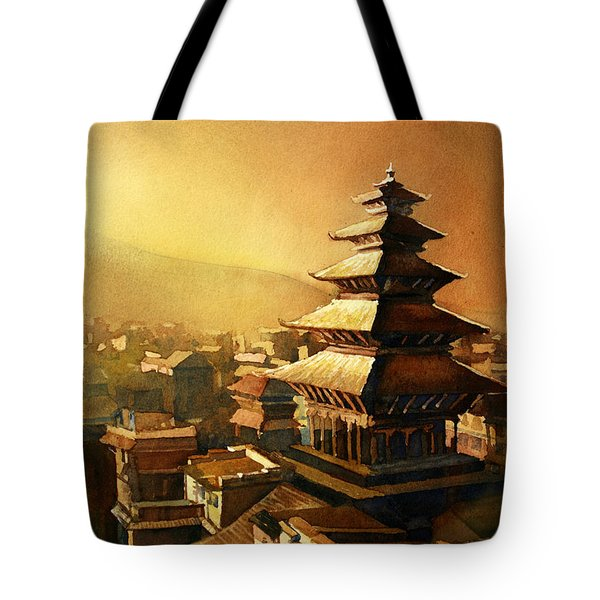 Nepal Temple Tote Bag by Ryan Fox