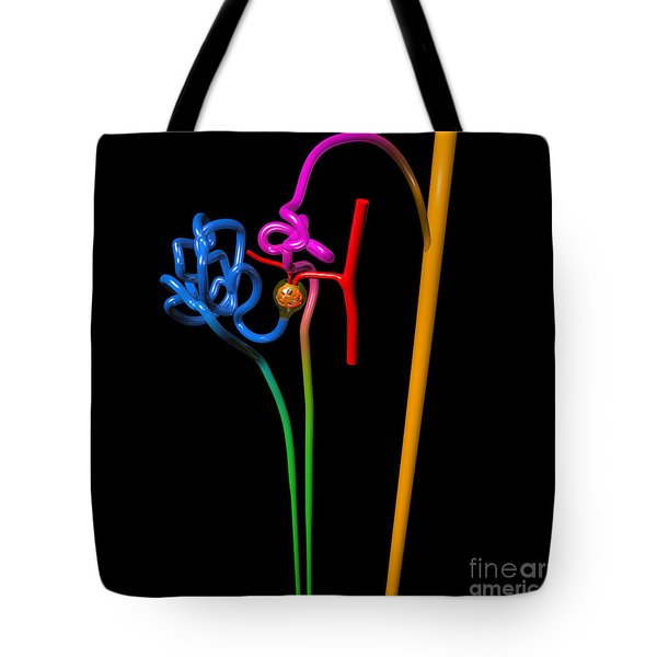 Tote Bag featuring the digital art Nephron Black by Russell Kightley
